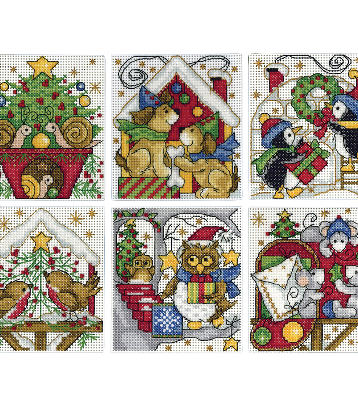 Design Works Counted Cross Stitch Ornament Kit-Home for Christmas