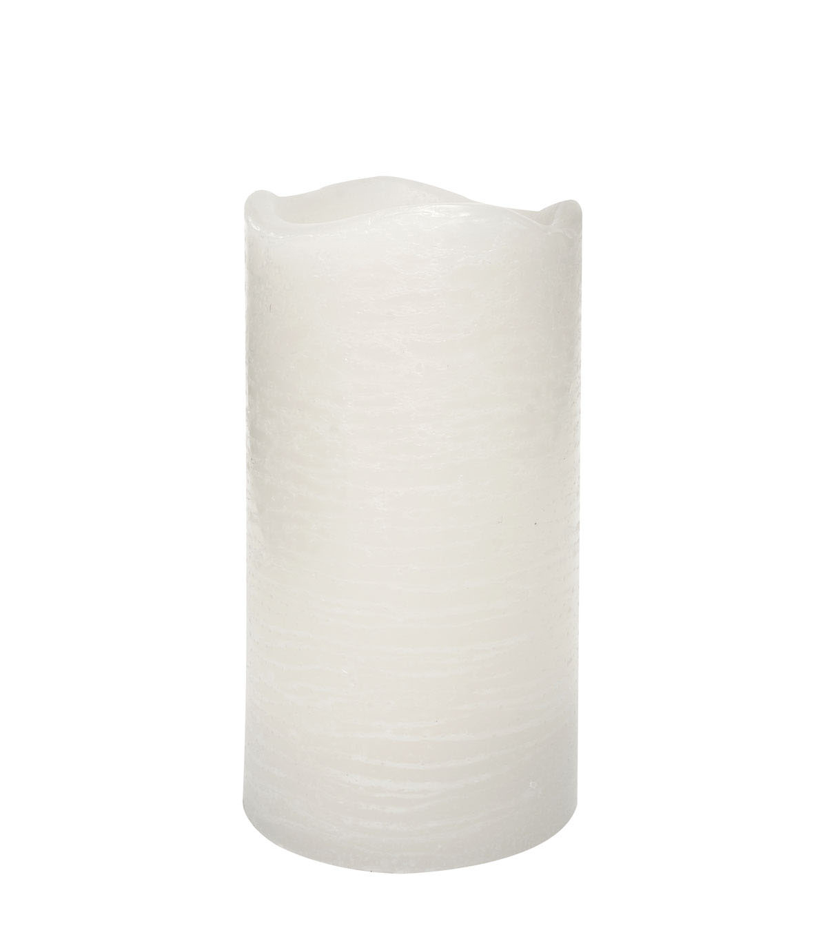 Hudson 43 Candle & Light Collection 3X6 White Rustic Pillar