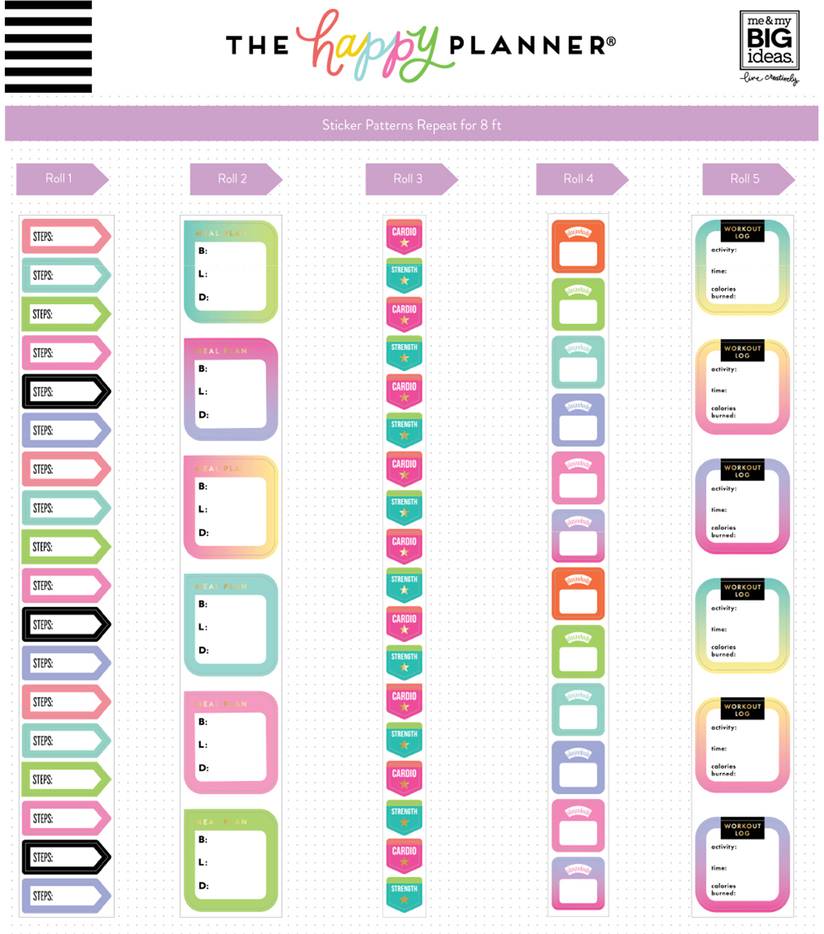 The Happy Planner Sticker Rolls-Fitness