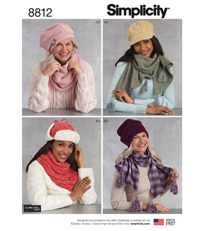 Simplicity Pattern 8812 Misses\u0027 Cold Weather Accessories