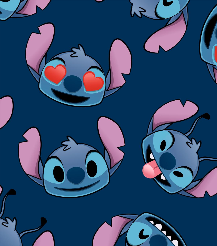 Disney Lilo & Stitch Fleece Fabric-Stitch Emoji Faces