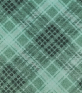 Sew Lush Fabric -Yukon Green Plaid