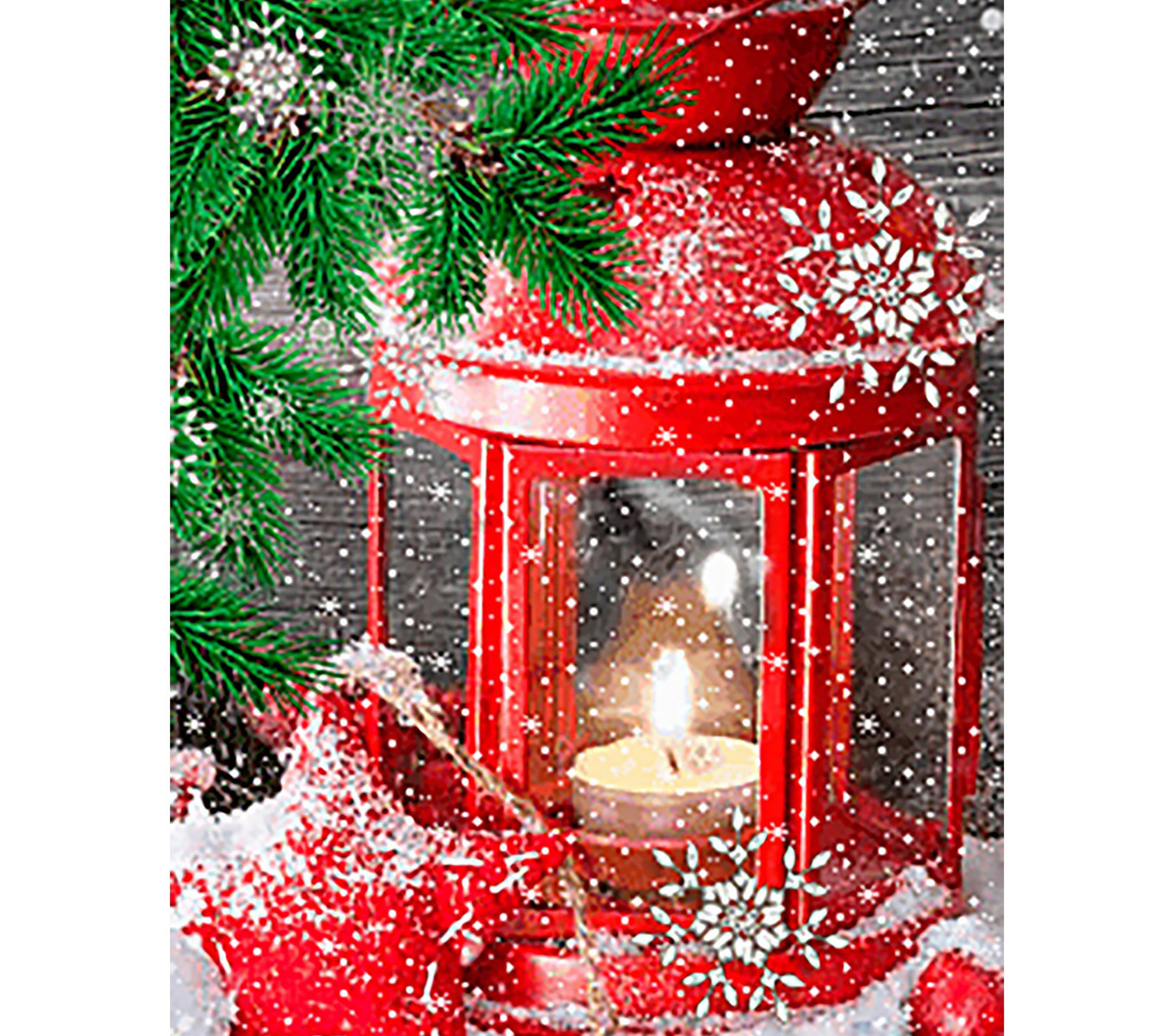 Collection D\u0027Art Diamond Embroidery Kit 27x38cm-Waiting For the Holidays