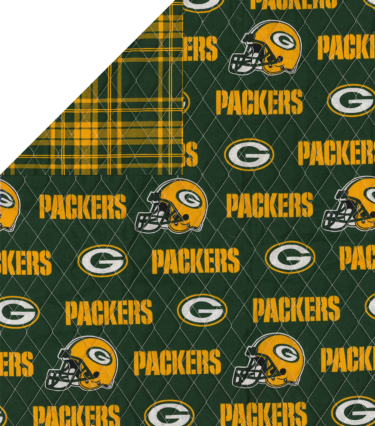 Green Bay Packers Double Faced Quilt Fabric