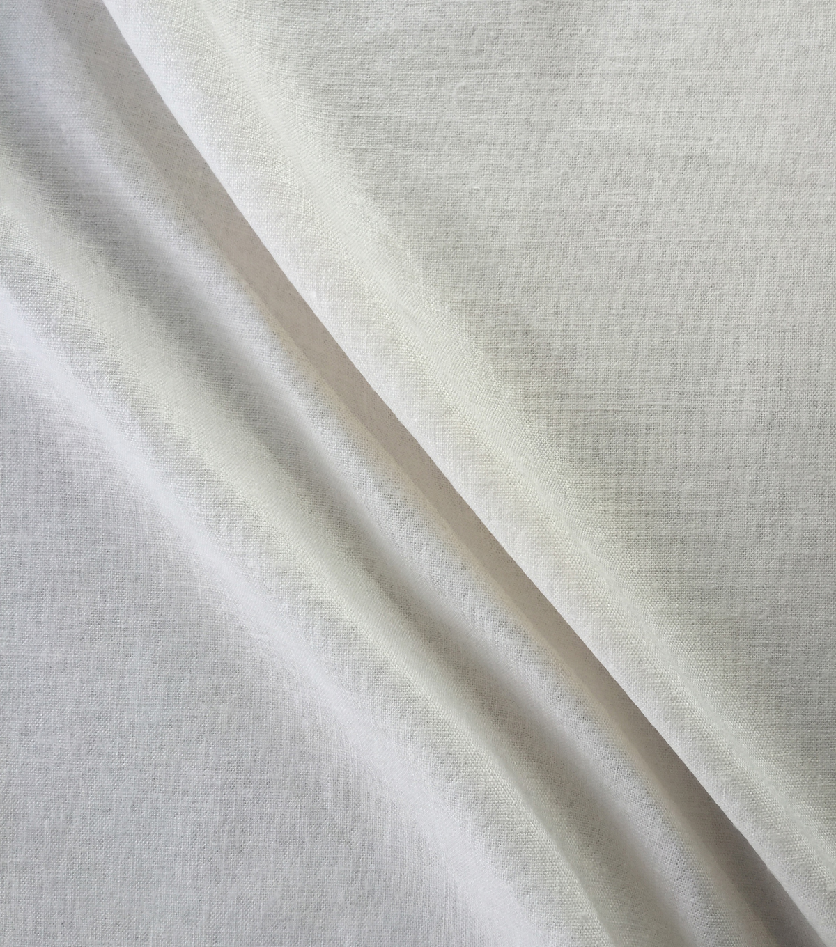 Sew Classics Linen Look Fabric -Solid, White Linen Look