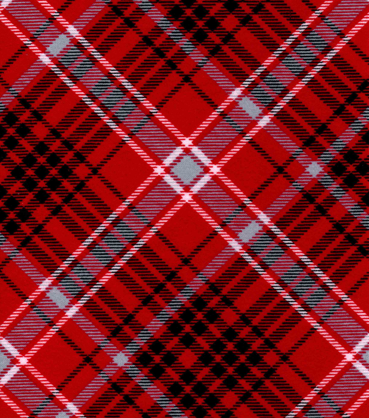 Snuggle Flannel Fabric -Kate Red & Gray Plaid