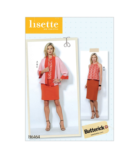 Butterick Pattern B6464 Misses\u0027 Jacket, Top & Pencil Skirts-Size 6-14
