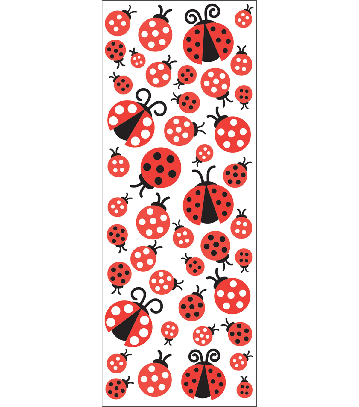 EK Success Puffy Classic Stickers-Ladybugs
