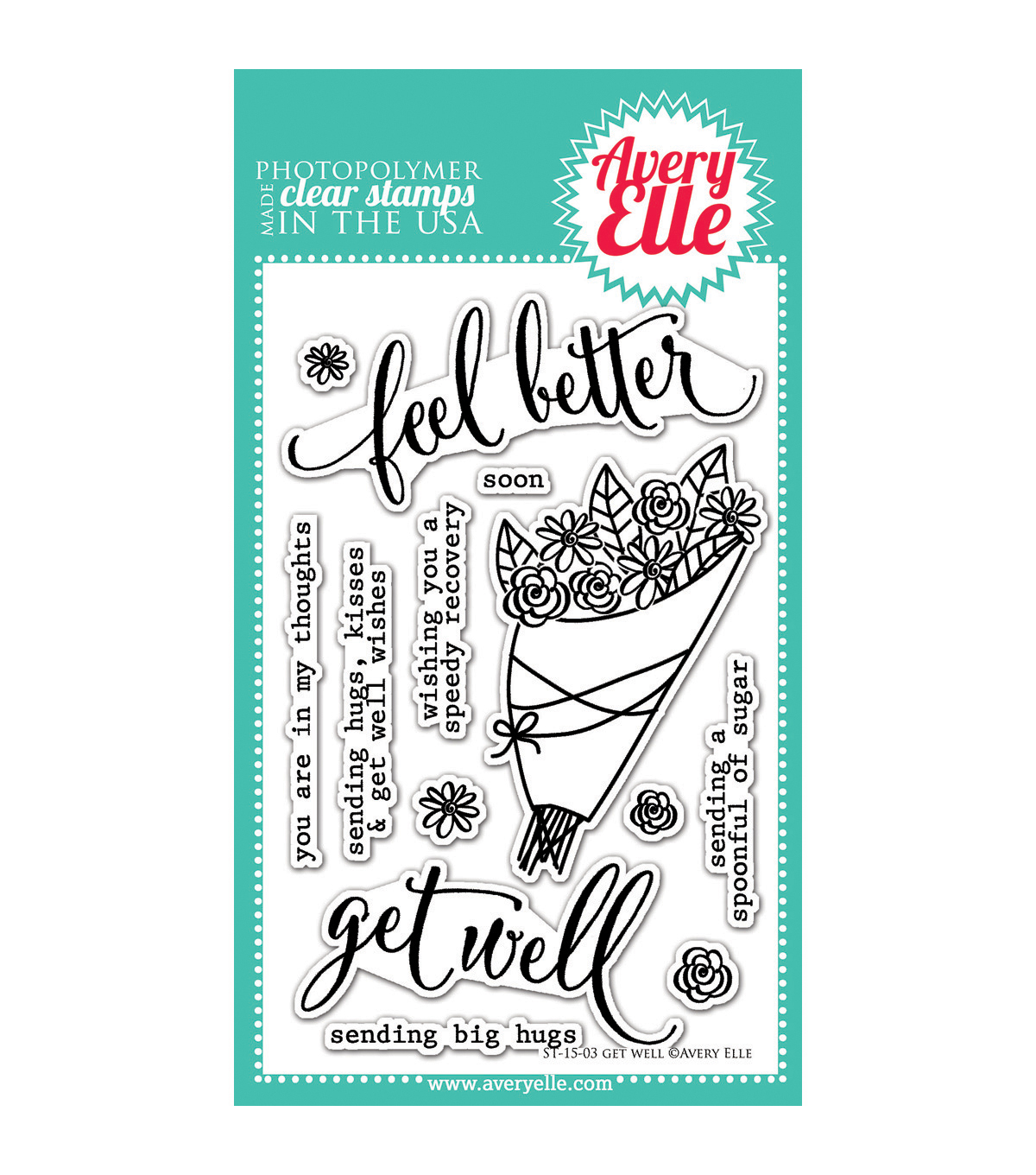 Avery Elle Get Well Clear Stamp Set 4\u0027\u0027x6\u0027\u0027