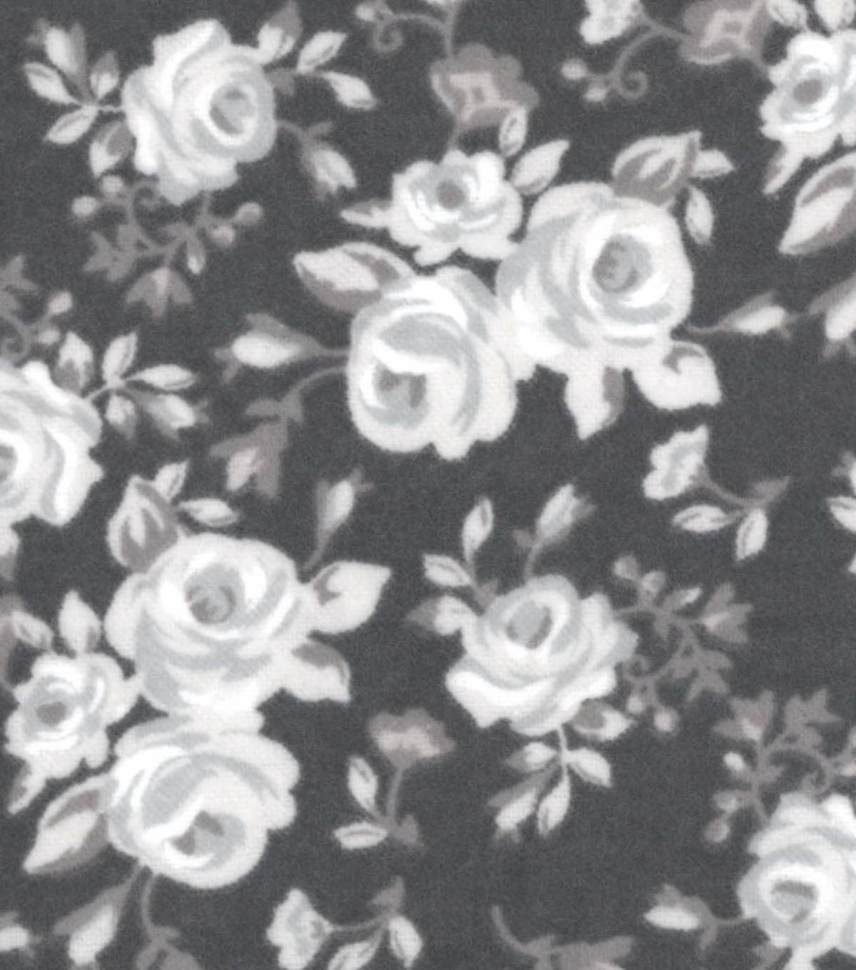 Snuggle Flannel Fabric -Vintage Roses Gray