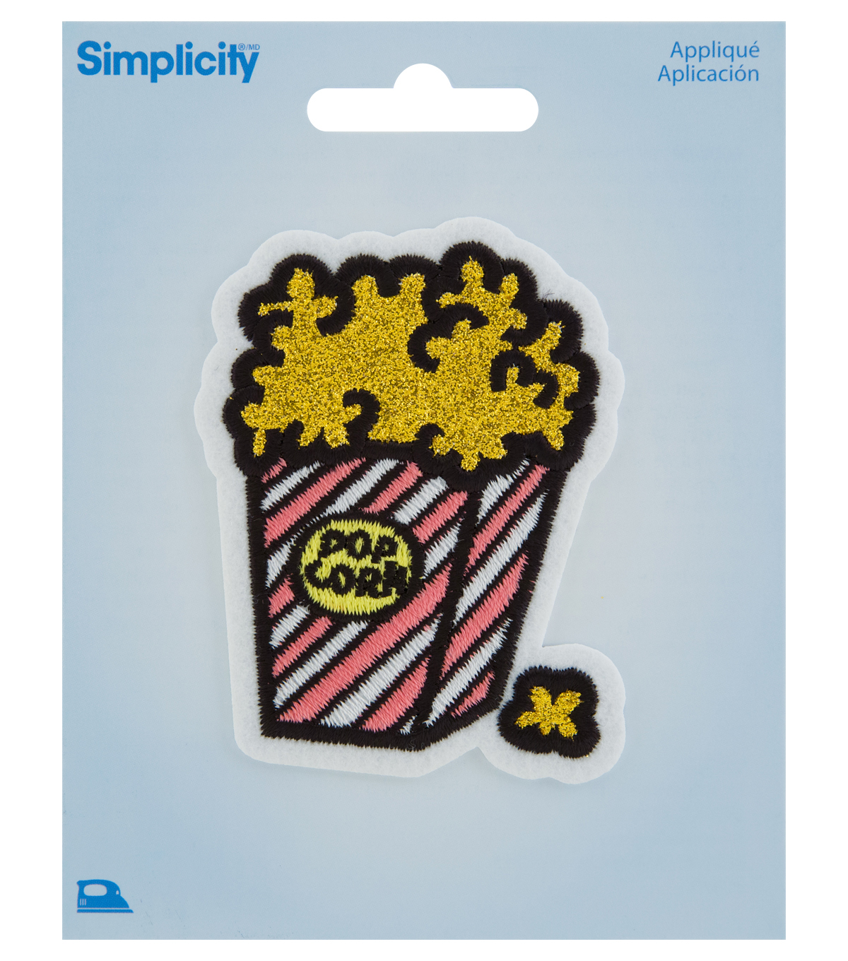 Simplicity Gold Glitter Popcorn Iron-on Applique