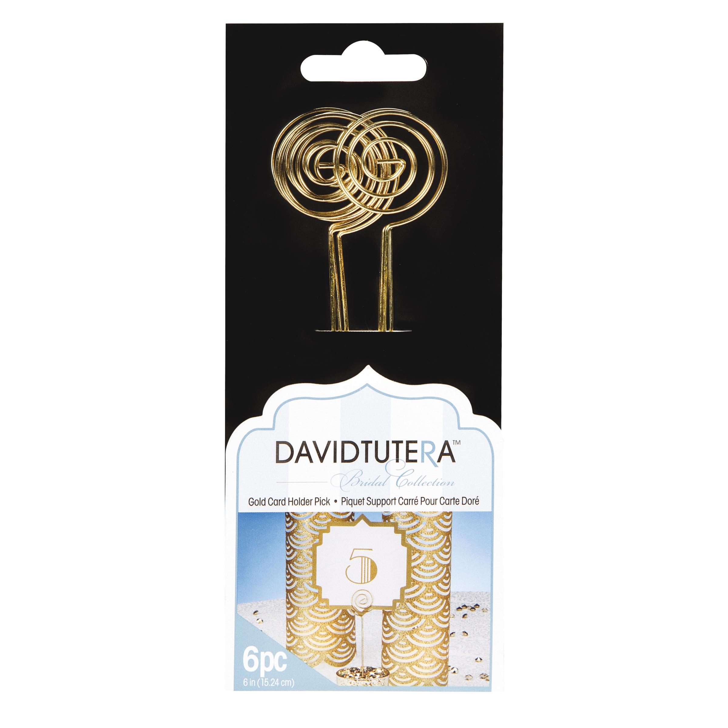 David Tutera Bridal Collection Gold Circle Card Holder Picks, 6pcs ...