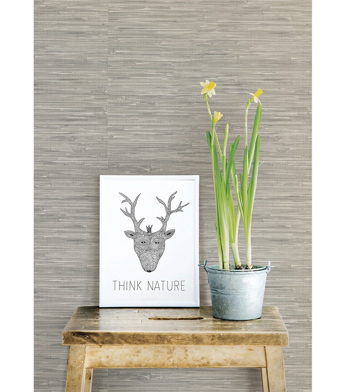 WallPops NuWallpaper Tibetan Grasscloth Peel and Stick Wallpaper
