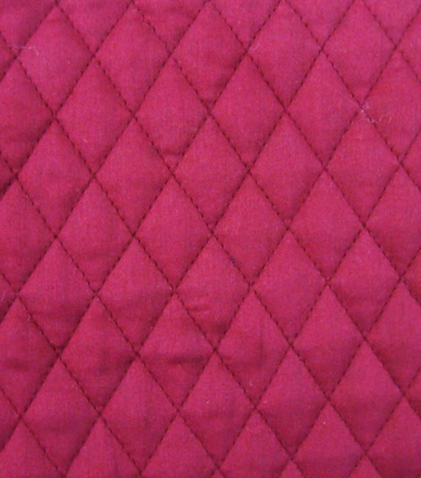 Double Faced Pre-Quilted Cotton Fabric -Diamond Solids, Burgundy