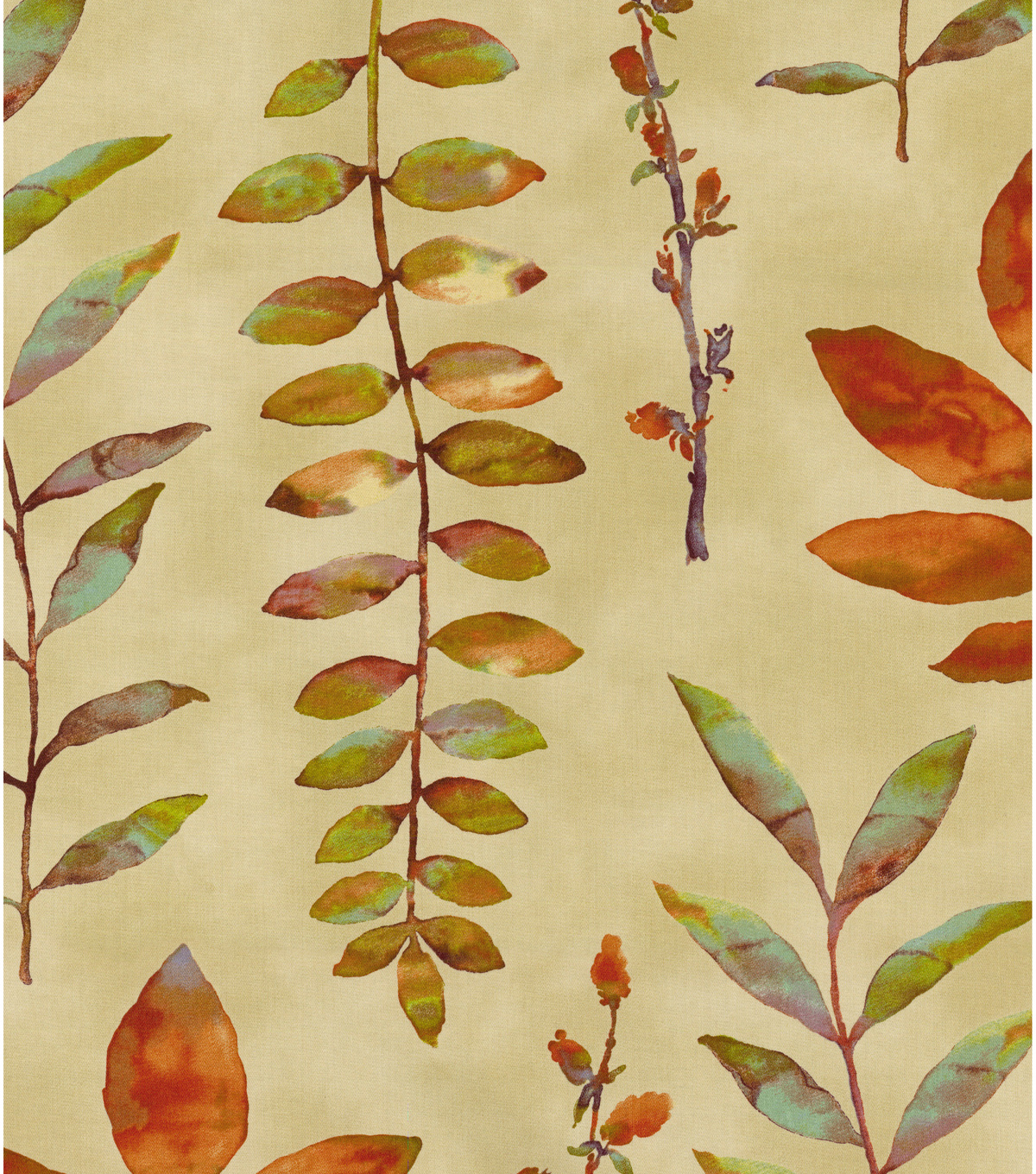 Waverly Print Fabric 54\u0022-Leaf Of Faith/Flaxseed