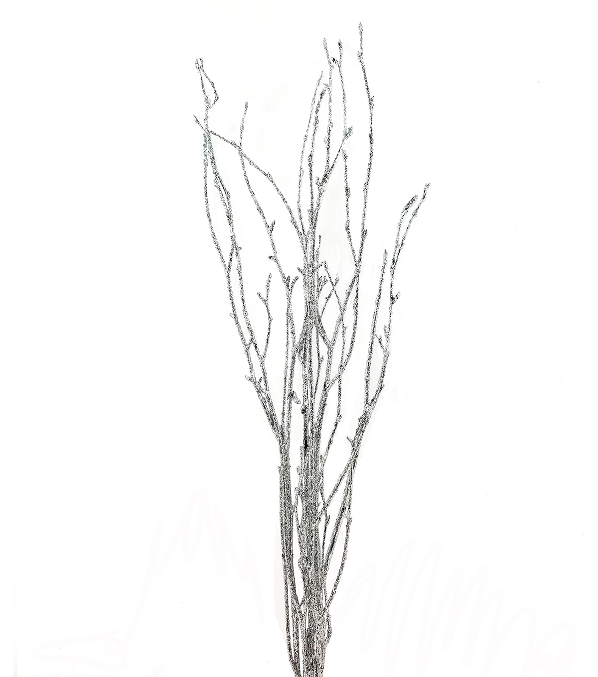 Handmade Holiday Christmas Short Birch Branches-Silver
