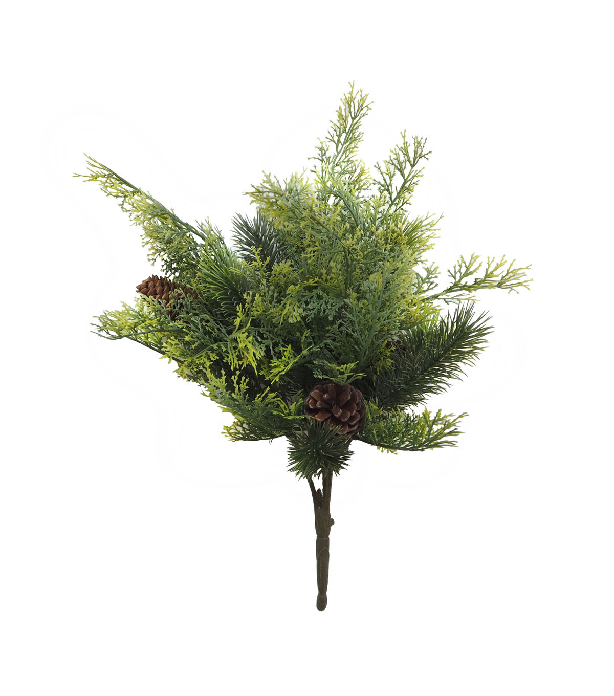 Handmade Holiday Christmas Greenery & Pinecone Outdoor Bush