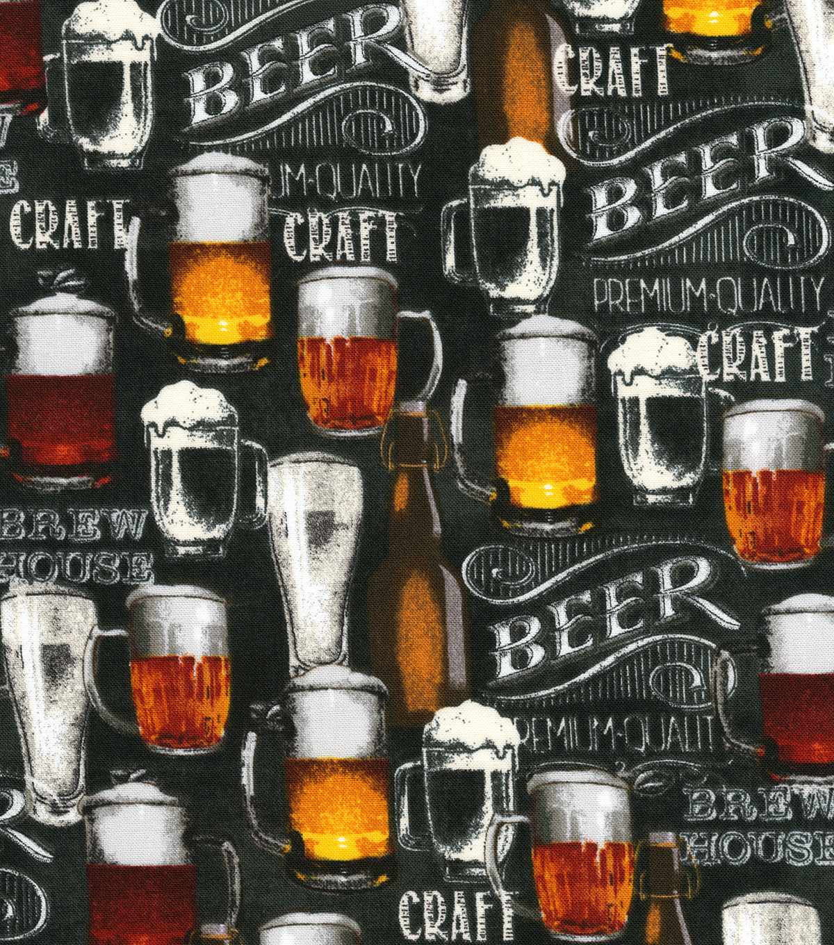 Novelty Cotton Fabric -Craft Beer