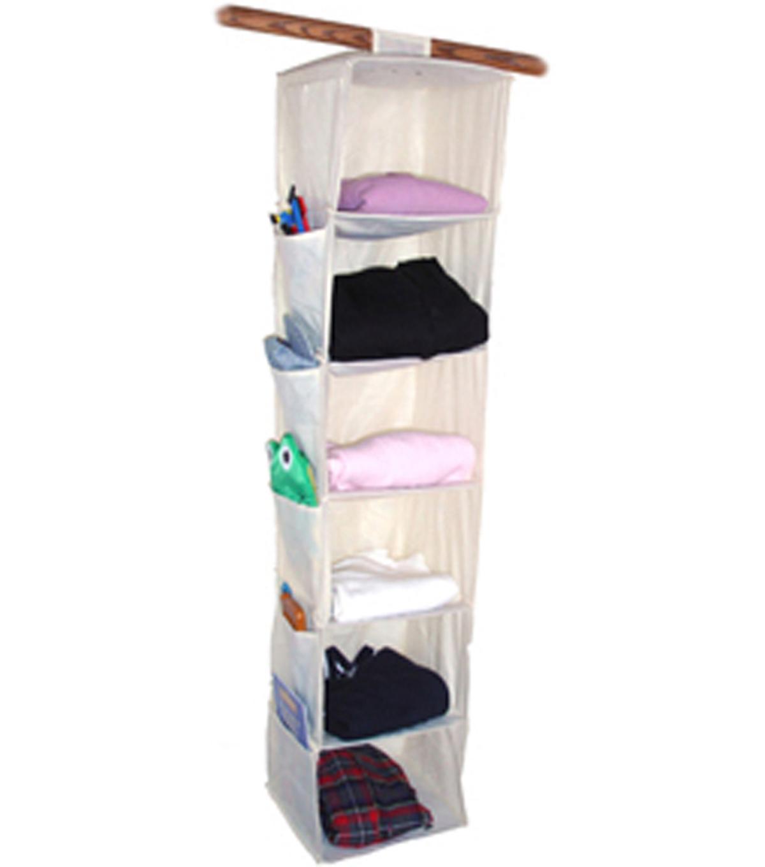 "Innovative Home Creations 6 Shelf Yarn /& Craft Organizer 48/""X11/""X11/""-Natural"