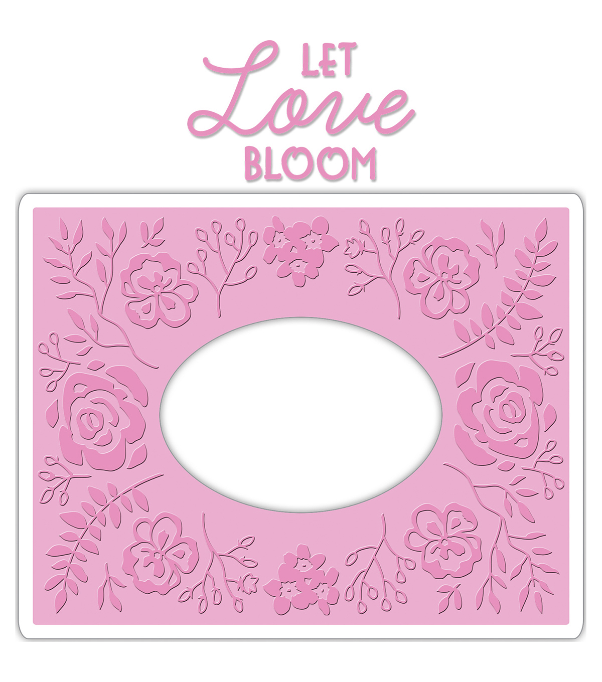 Sizzix Impresslits Courtney Chilson Embossing Folder-Garden Frame