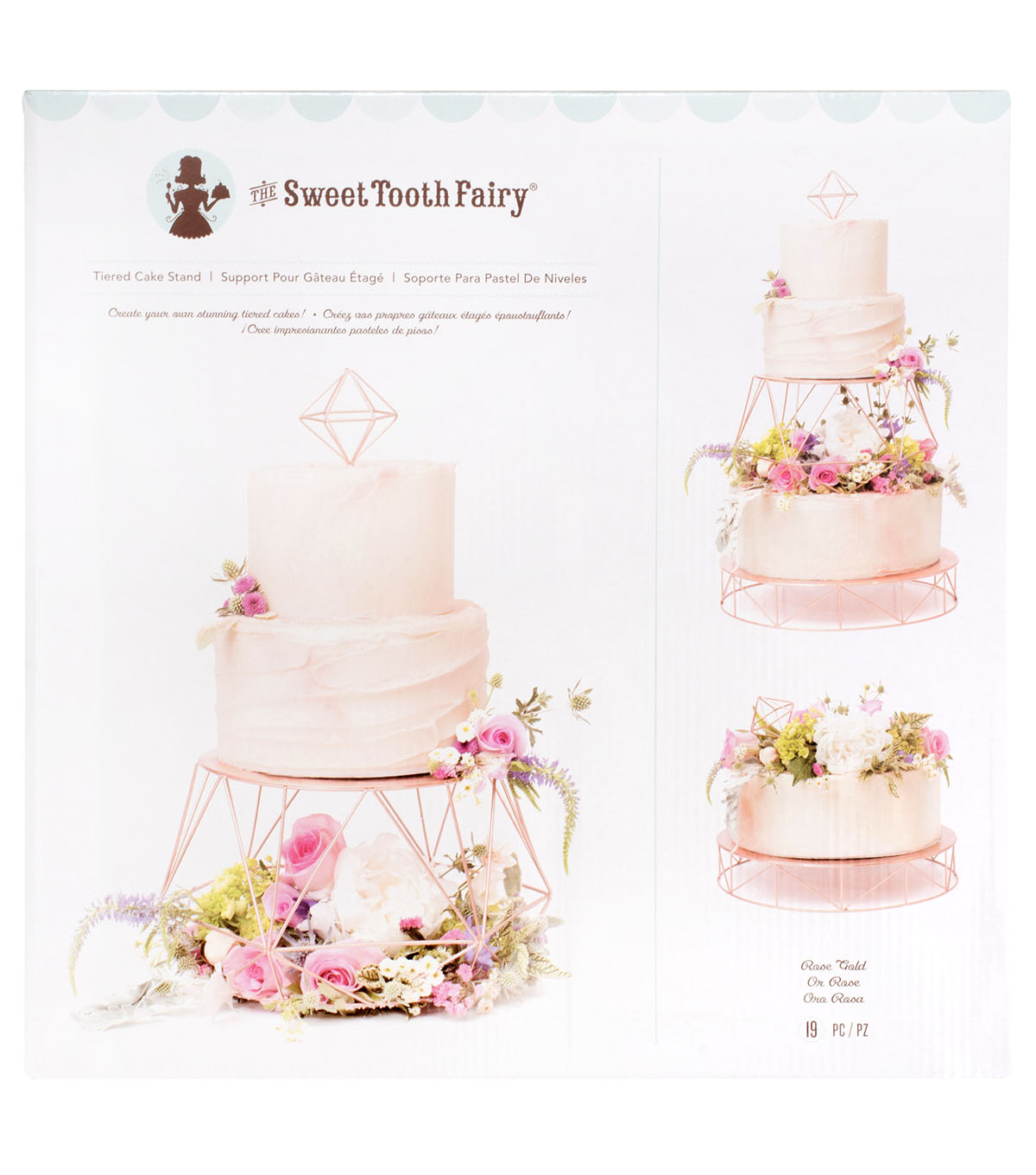 The Sweet Tooth Fairy 19 Pk Tiered Cake Stand Rose Gold