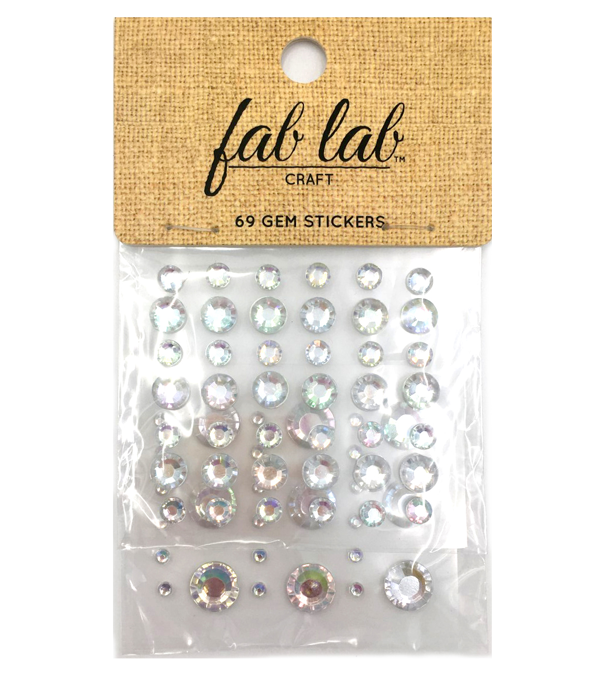 Stick-On Rhinestones Clear Rounds AB