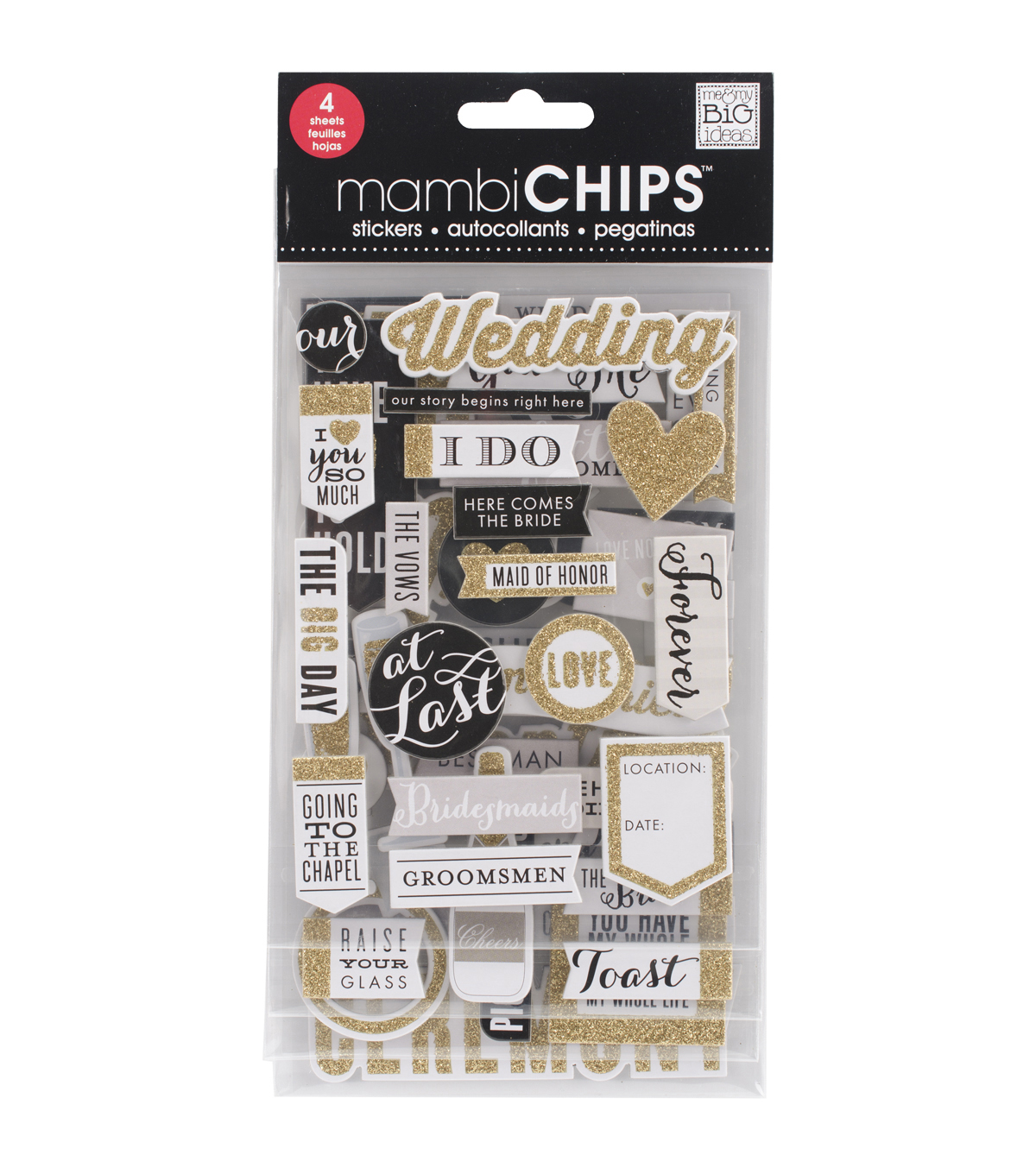 Me & My Big Ideas Mambi Chips Our Wedding Stickers