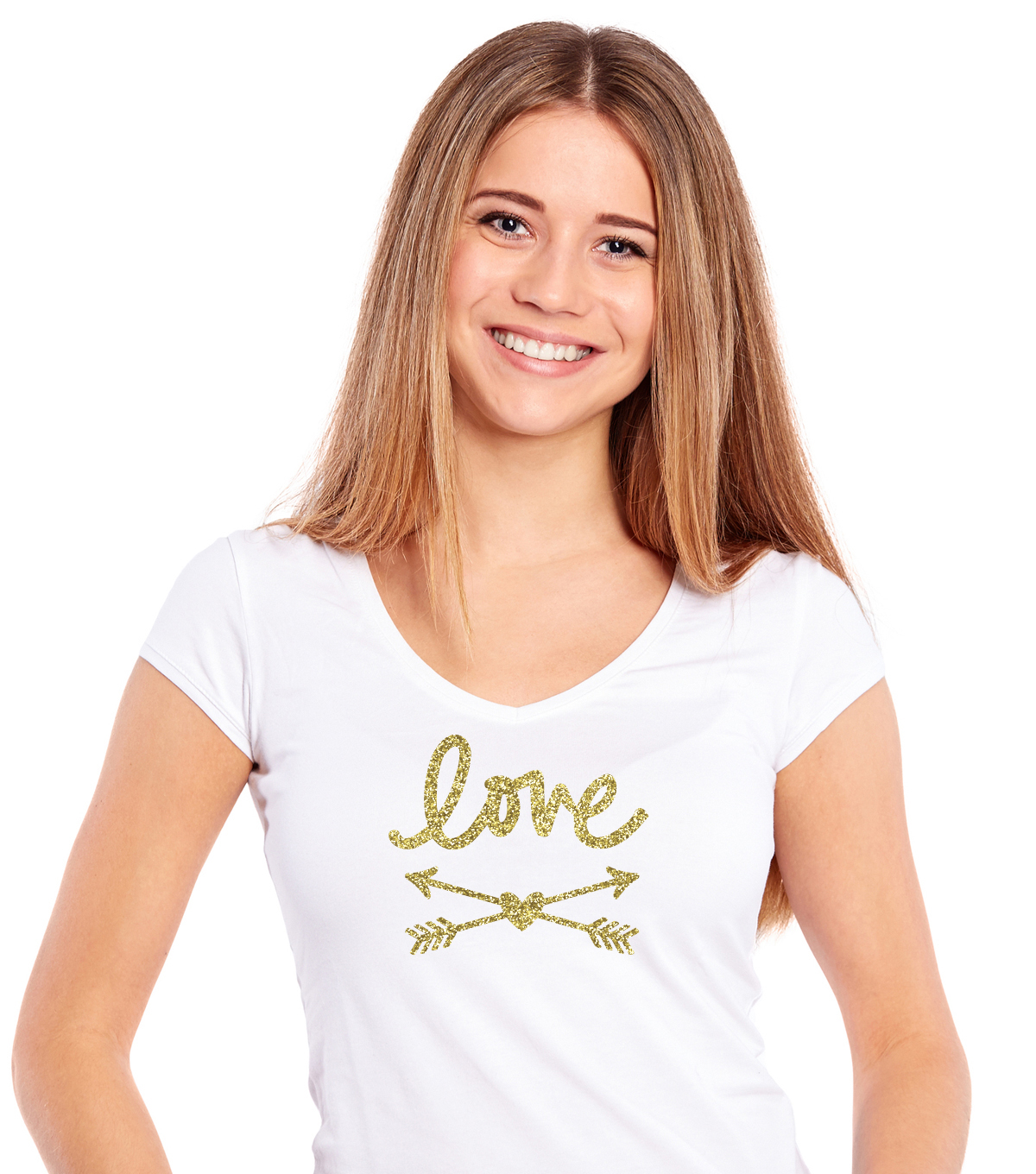 Momenta Love & Arrows Glitter Iron-on Art-Gold