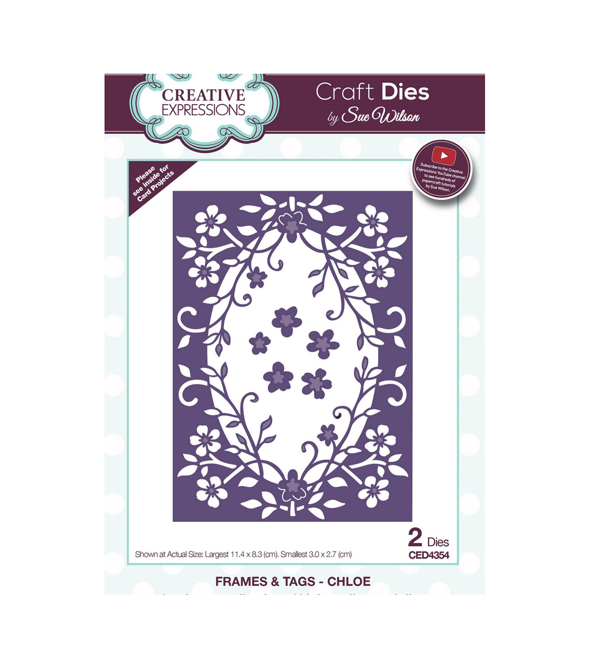 Creative Expressions Craft Dies By Sue Wilson-Chloe