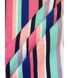 Doodles Juvenile Apparel Fabric 57\u0027\u0027-Multi Girly Stripe Interlock