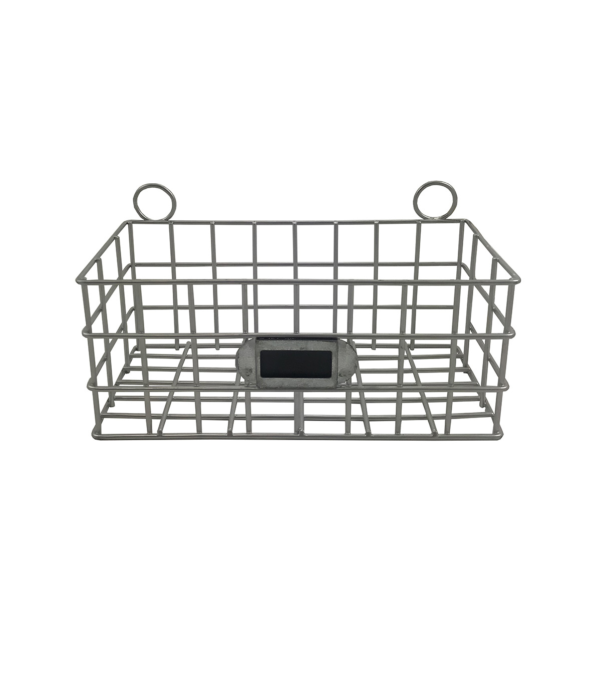 Hampton Home 7\u0027\u0027 Galvanized Metal Basket