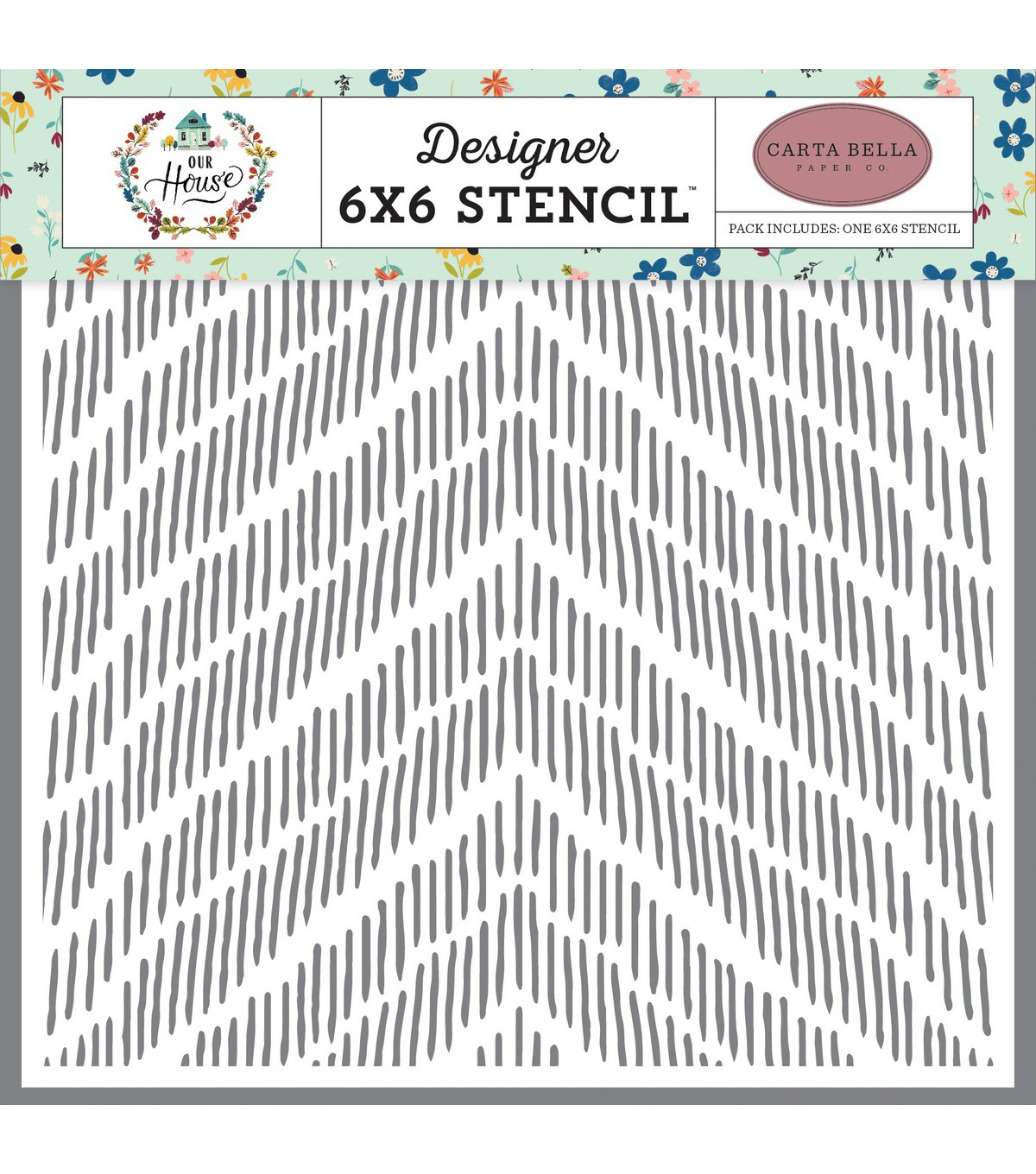 Carta Bella Stencil 6\u0022X6\u0022-Distressed Chevron