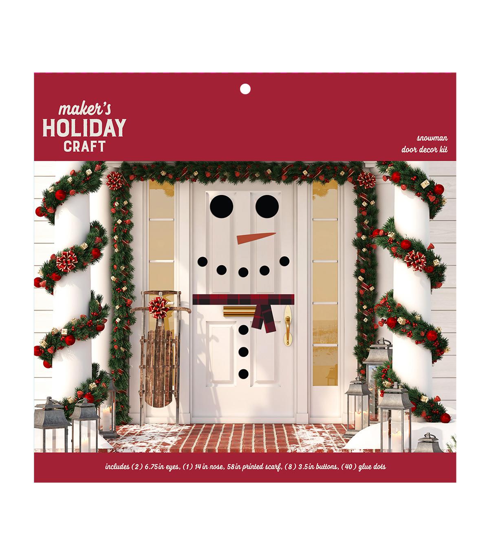 Maker S Holiday Craft Door Decor Kit Snowman Joann