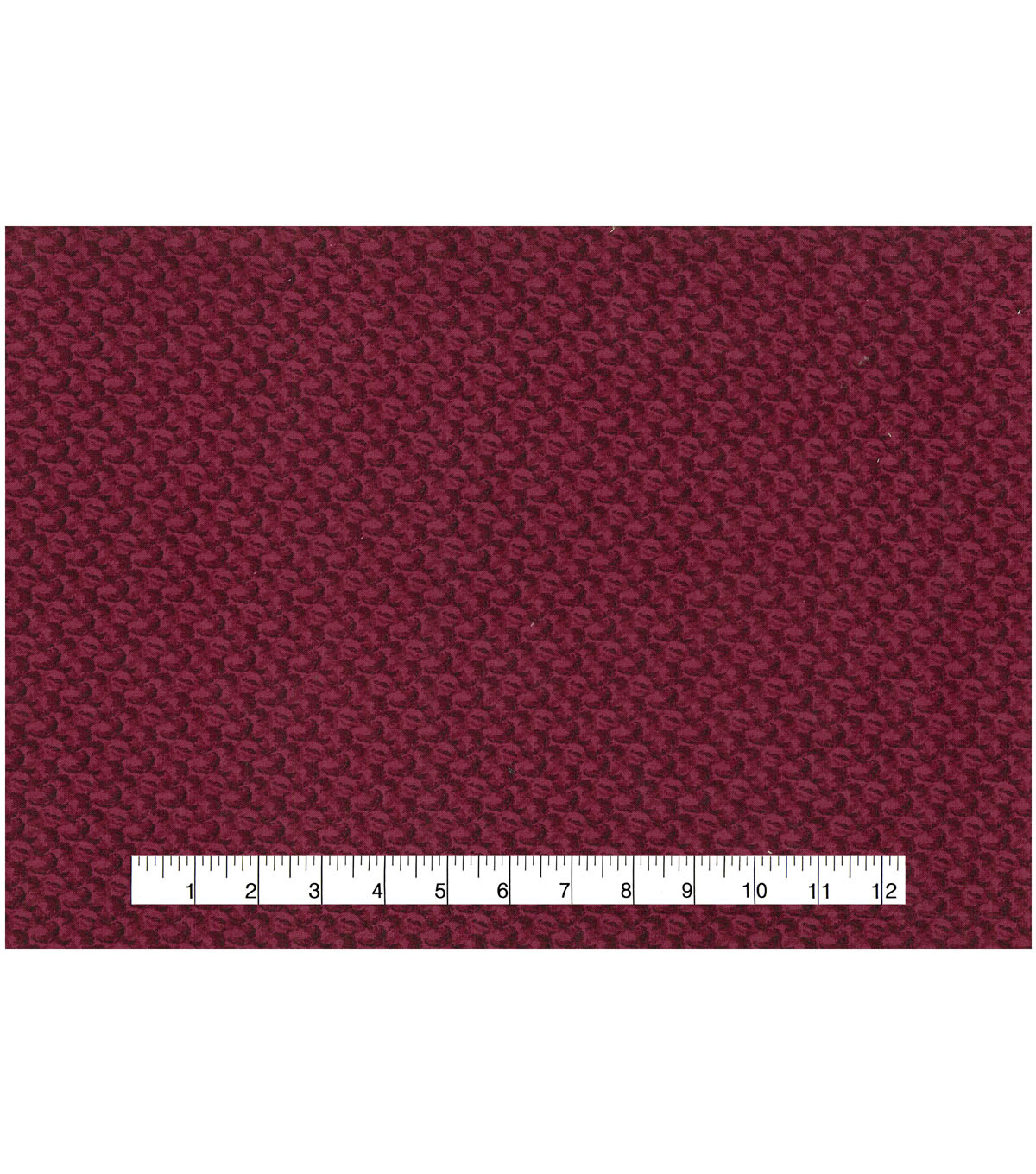 Premium Wide Cotton Fabric-Red Vine Scrolls