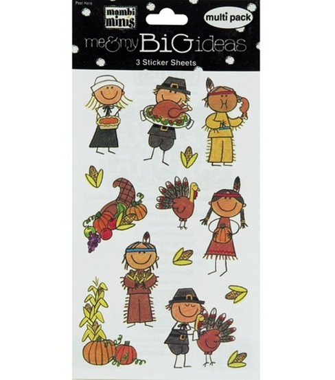 Thanksgiving Kids Stickers