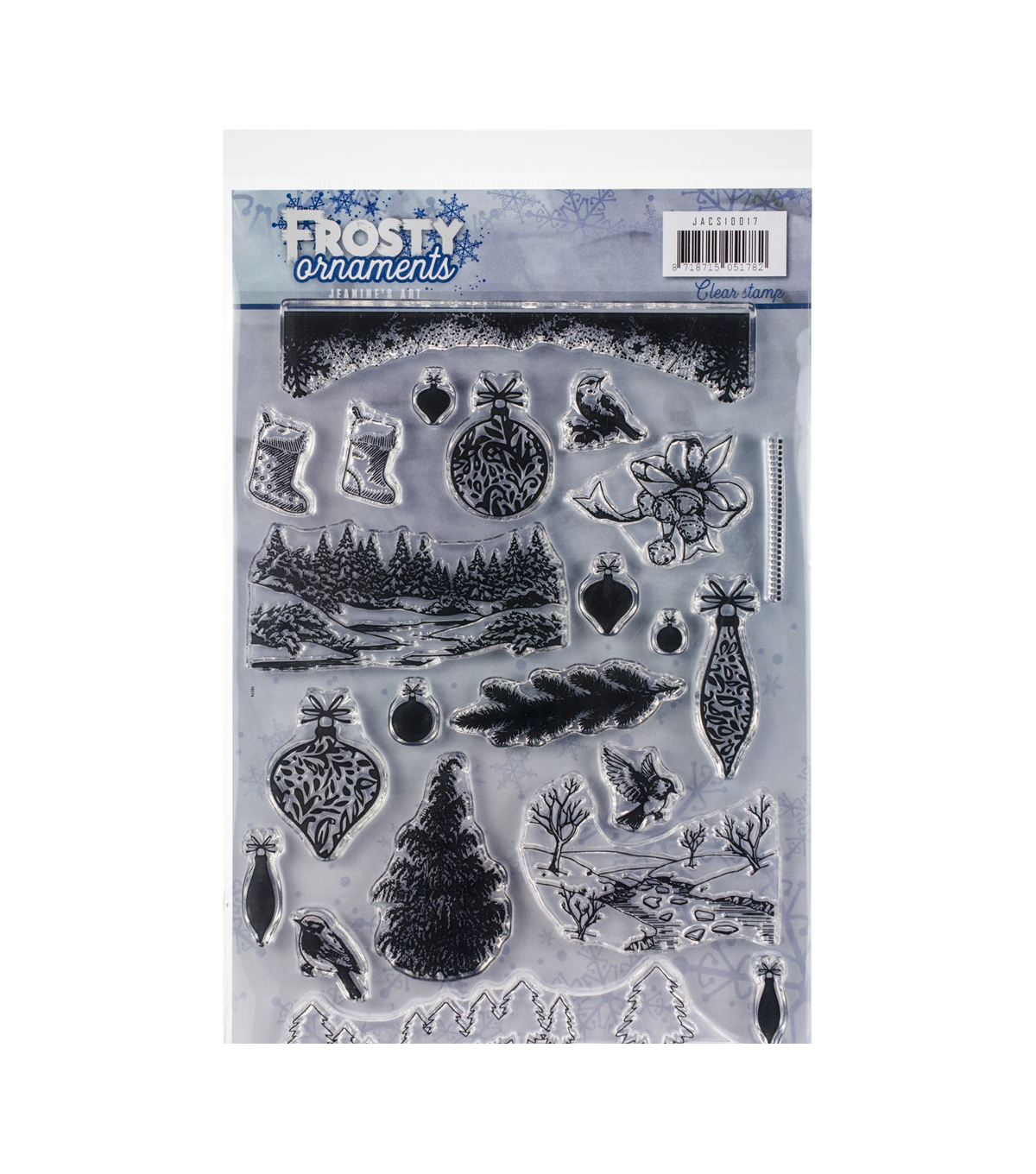 Find It Trading Jeanine\u0027s Art Clear Stamps-Frosty Ornaments