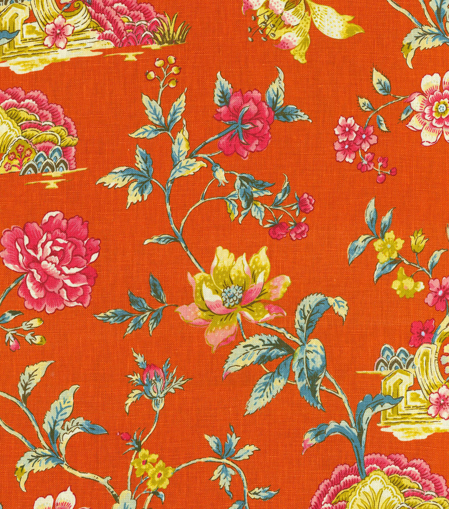 Home Decor 8\u0022x8\u0022 Fabric Swatch-Williamsburg Pondicherry Tumeric