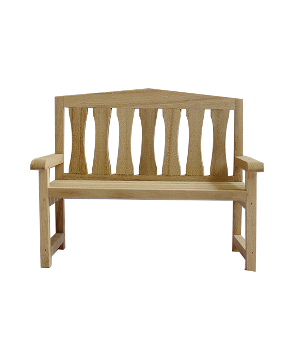 3D Wood Furniture Bench