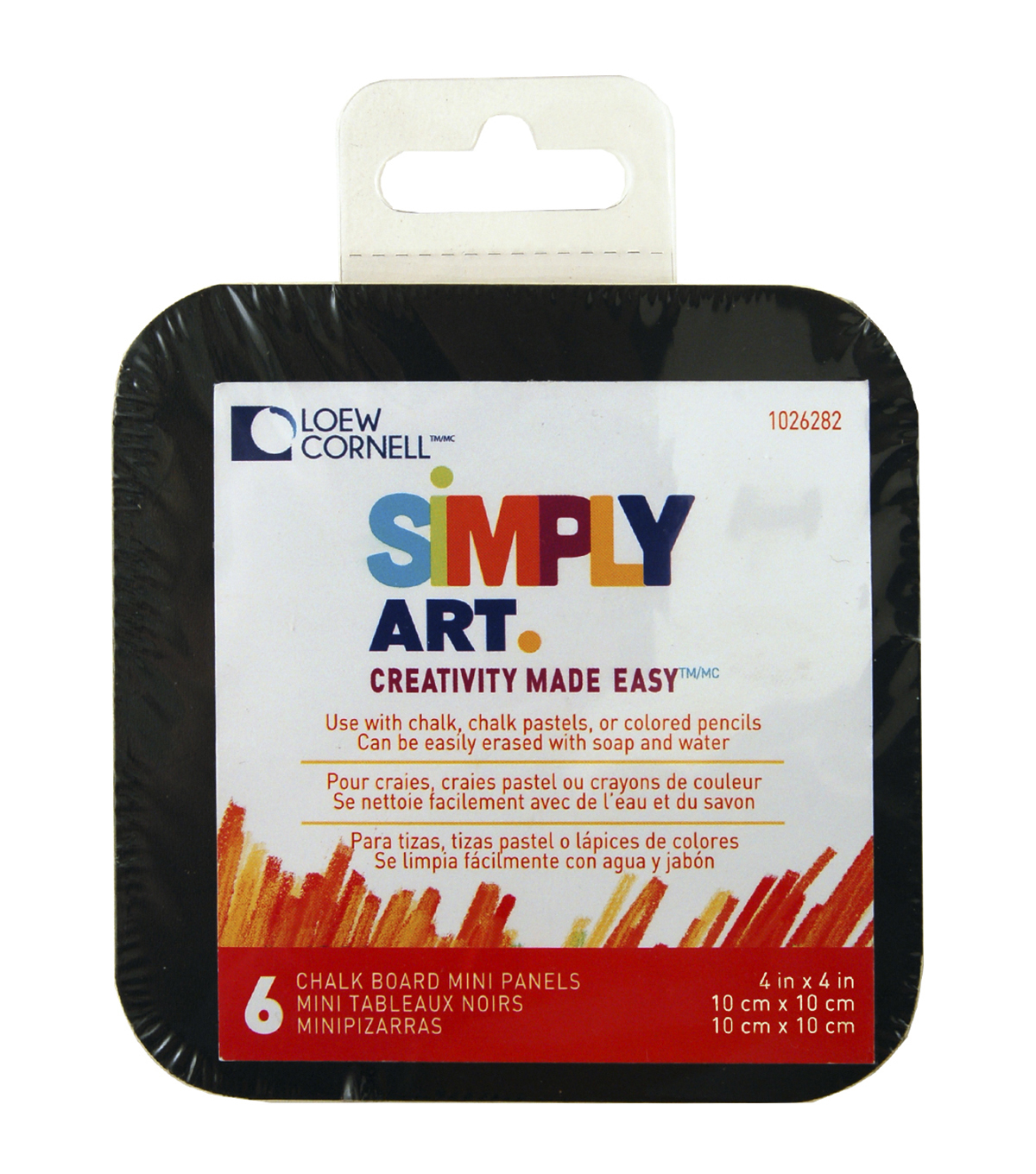 Simply Art Mini Chalkboard Panels 4\u0022X4\u0022 6/Pkg