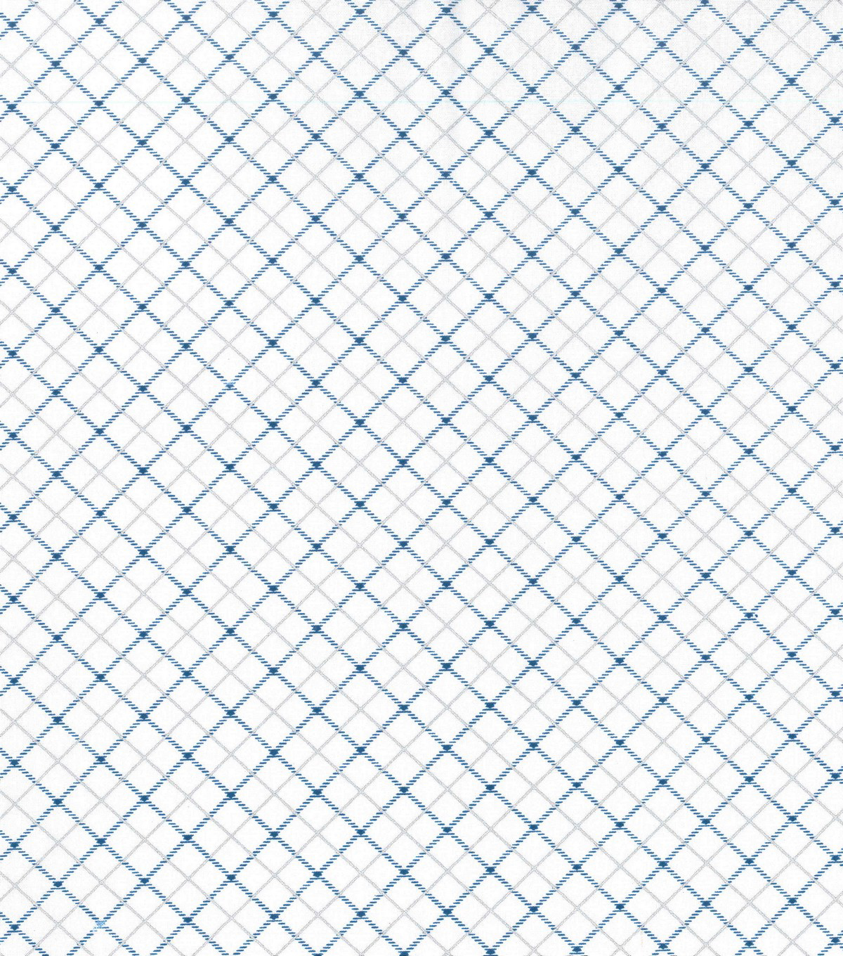 Christmas Cotton Fabric-Metallic Blue Diamond