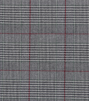 Check It Stretch Suiting 57\u0022-Menswear Plaid Black, Tan & Burgundy