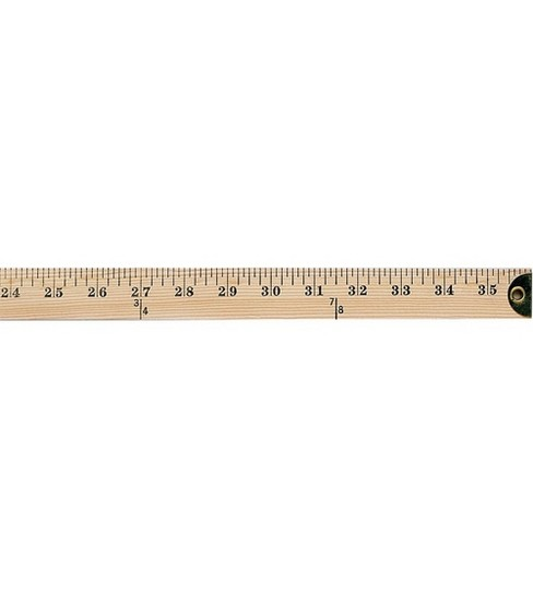 Wooden Yardstick Ruler with Metal Edges