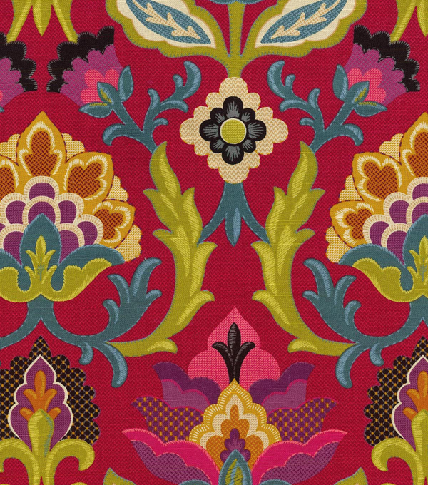 Waverly Upholstery 8x8 Fabric Swatch-Isadora/Fiesta