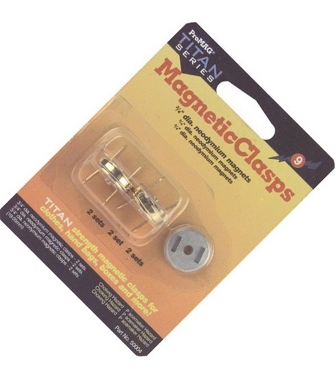 Gold 3/4\u0022 Round Magnetic Clasps-2 Sets