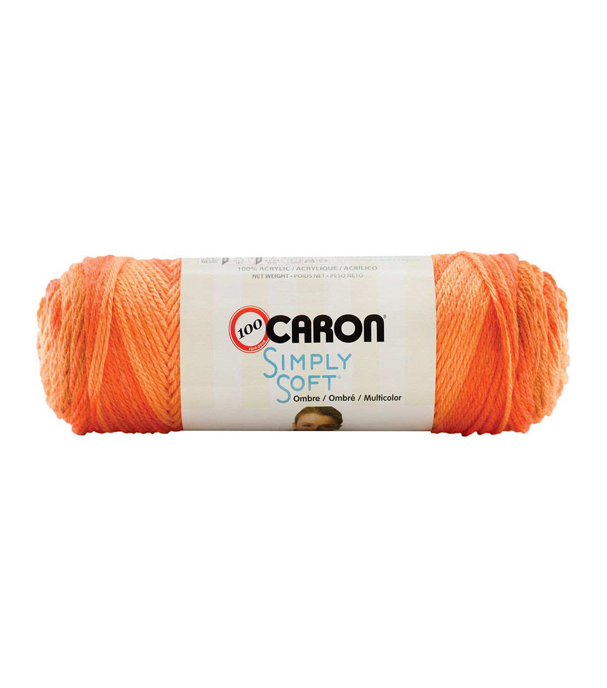 Caron Simply Soft Ombres Yarn, Gold