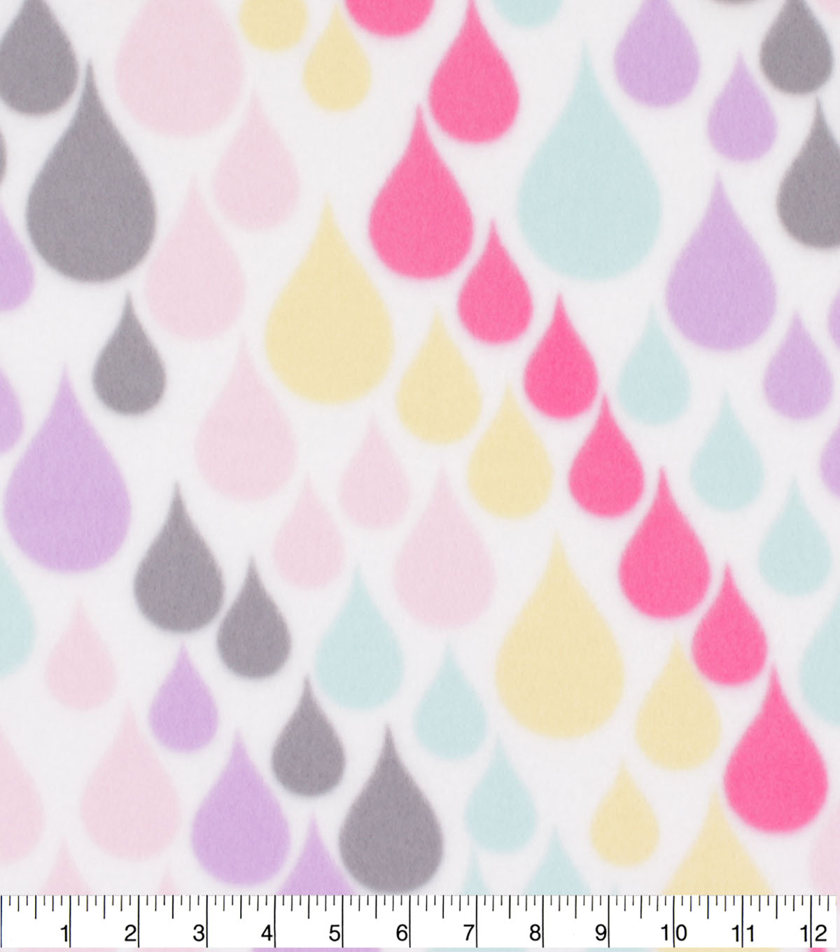 Blizzard Fleece Fabric-Girl Raindrops