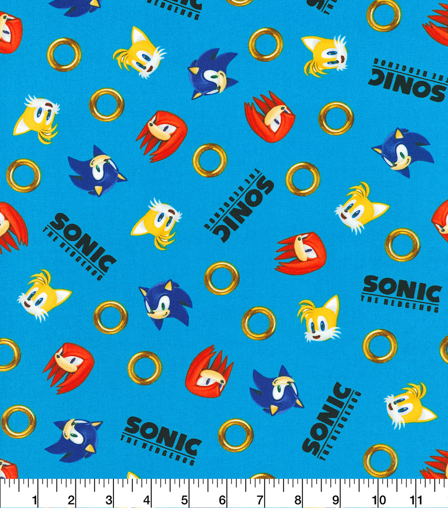 Sonic The Hedgehog Cotton Fabric Rings Tossed Joann