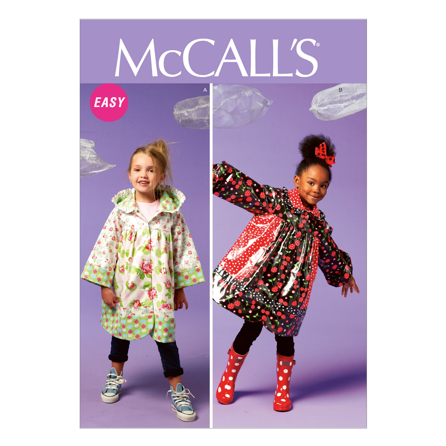 McCall\u0027s Pattern M6692 Girls\u0027 Unlined Coats-Size 2-3-4-5