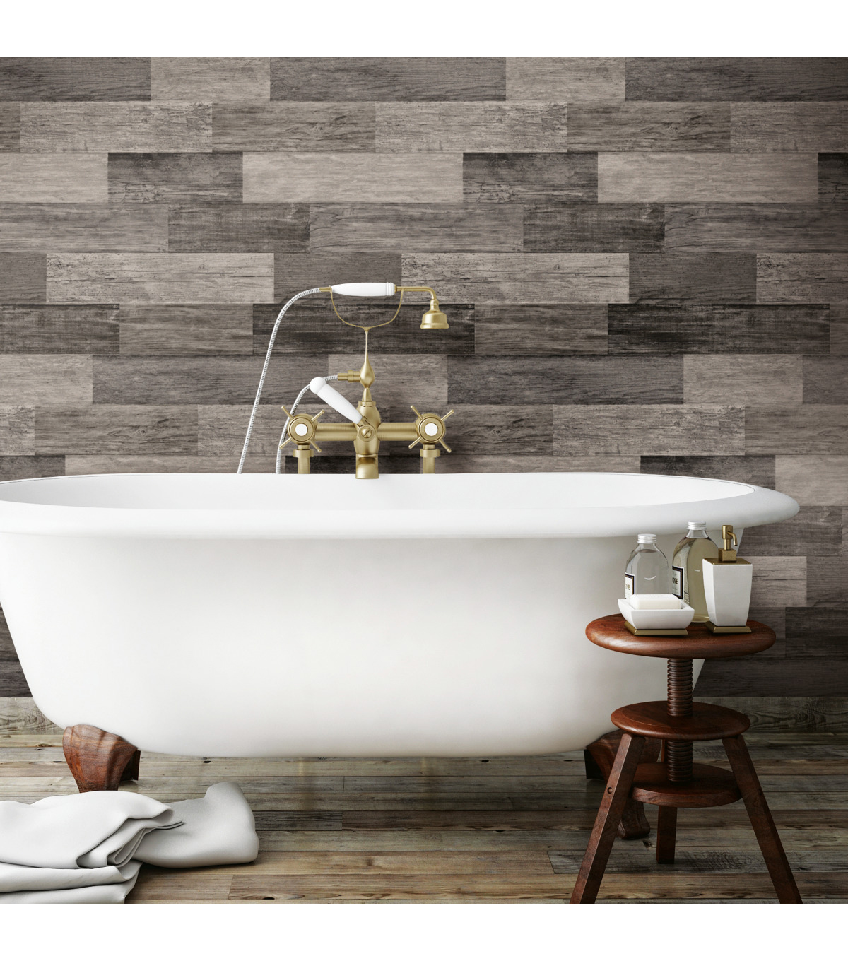 York Wallcoverings Wallpaper-Weathered Wood Plank