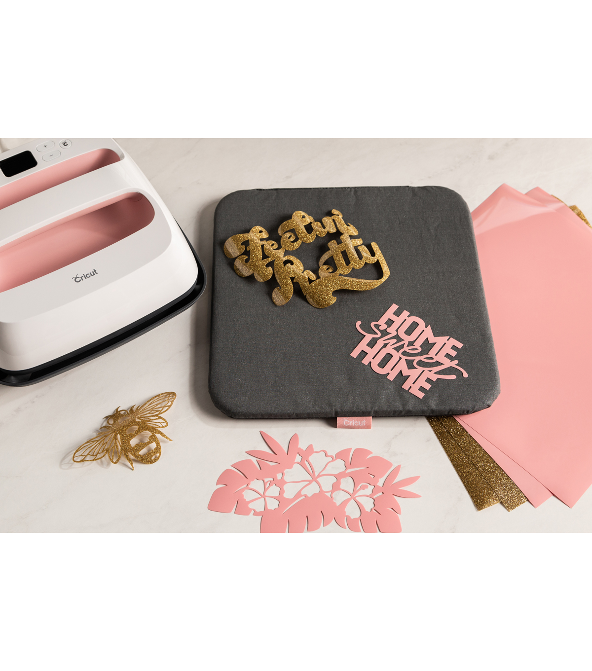 Cricut EasyPress 2 9\u0027\u0027x9\u0027\u0027 Machine Bundle-Rose